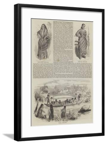 Sketches in Manilla--Framed Art Print