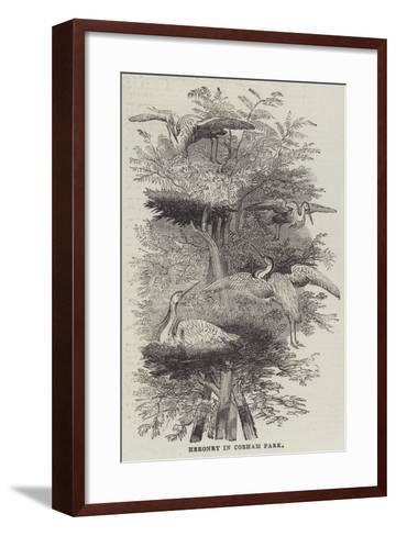 Heronry at Cobham Park--Framed Art Print
