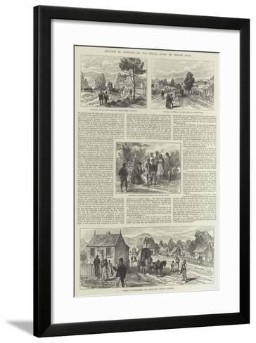 Sketches in Australia--Framed Art Print