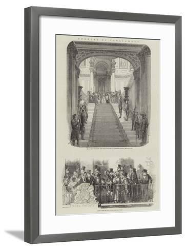 Opening of Parliament--Framed Art Print