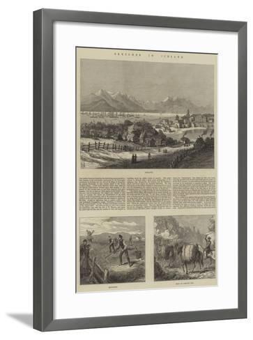 Sketches in Iceland--Framed Art Print