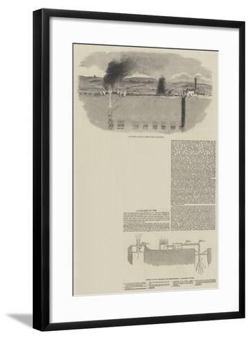 A Coal Mine on Fire--Framed Art Print
