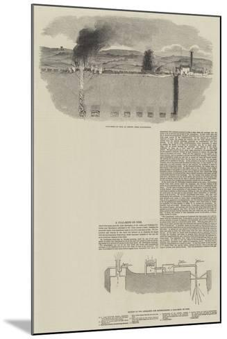 A Coal Mine on Fire--Mounted Giclee Print
