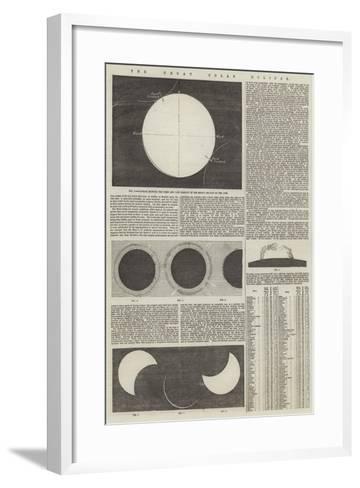 The Great Solar Eclipse--Framed Art Print