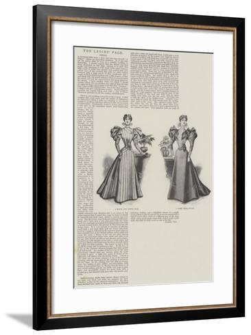The Ladies' Page, Dress--Framed Art Print