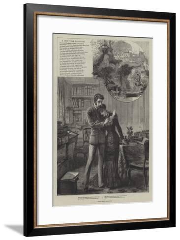 A Leap-Year Valentine--Framed Art Print