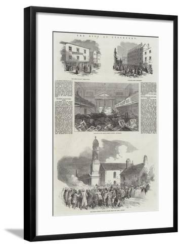 The Riot at Stockport--Framed Art Print