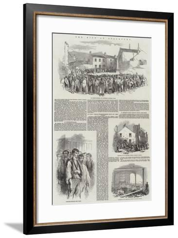 The Riot at Stockport--Framed Art Print