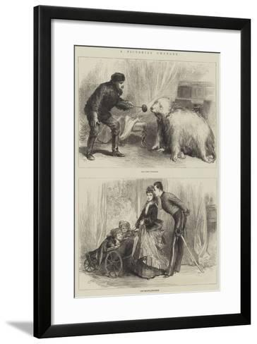 A Pictorial Charade--Framed Art Print