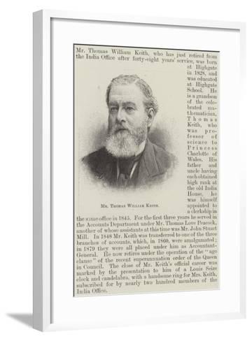 Mr Thomas William Keith--Framed Art Print
