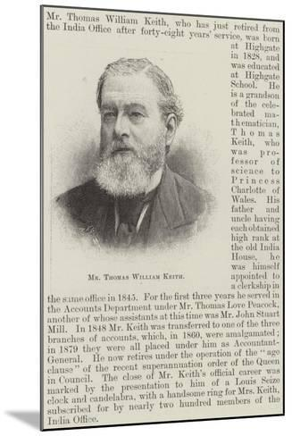 Mr Thomas William Keith--Mounted Giclee Print