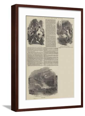 Fatal Riots in New York--Framed Art Print