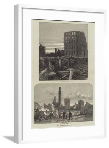 The Ruins of Chicago--Framed Art Print