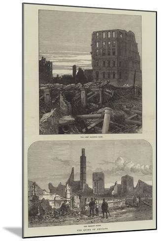 The Ruins of Chicago--Mounted Giclee Print