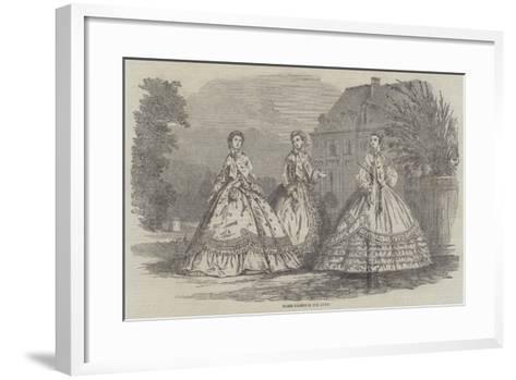 Paris Fashions for July--Framed Art Print