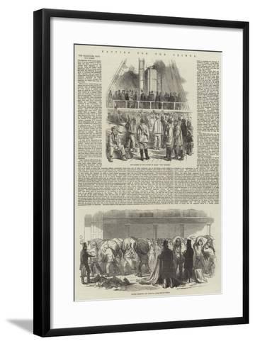 Navvies for the Crimea--Framed Art Print