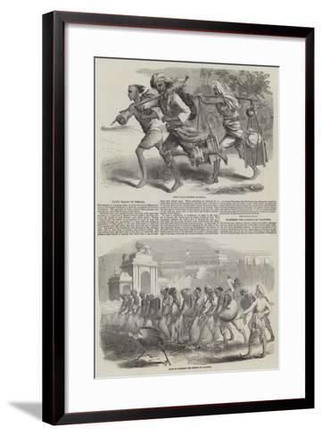 Sketches of Calcutta--Framed Art Print