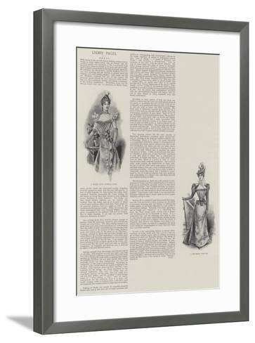 Ladies' Pages, Dress--Framed Art Print