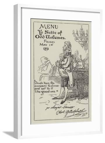The Sette of Odd Volumes--Framed Art Print