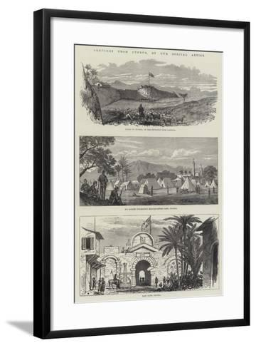 Sketches from Cyprus--Framed Art Print