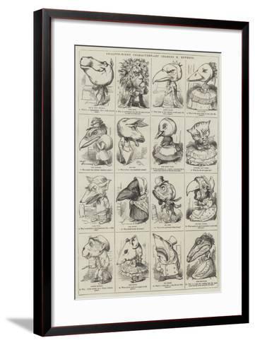 Twelfth-Night Characters--Framed Art Print