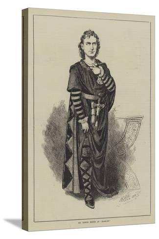 Mr Edwin Booth as Hamlet--Stretched Canvas Print