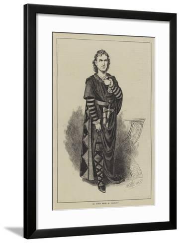 Mr Edwin Booth as Hamlet--Framed Art Print