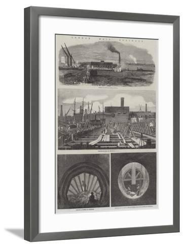 London Main Drainage--Framed Art Print
