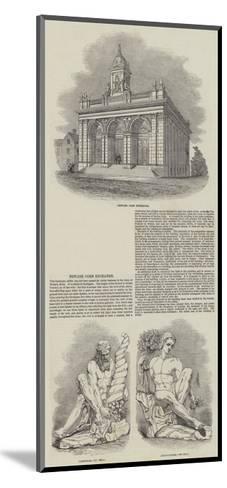 Newark Corn Exchange--Mounted Giclee Print