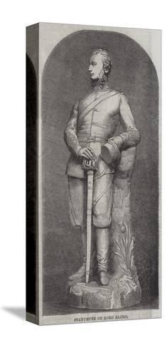 Statuette of Lord Elcho--Stretched Canvas Print