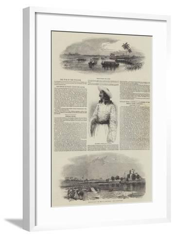 The War in the Punjaub--Framed Art Print