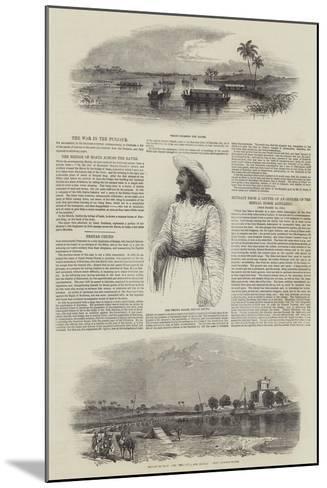 The War in the Punjaub--Mounted Giclee Print