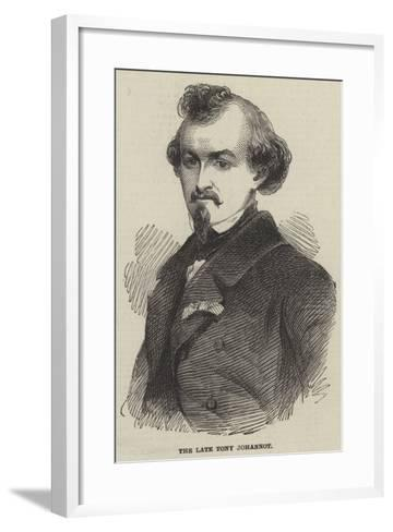 The Late Tony Johannot--Framed Art Print