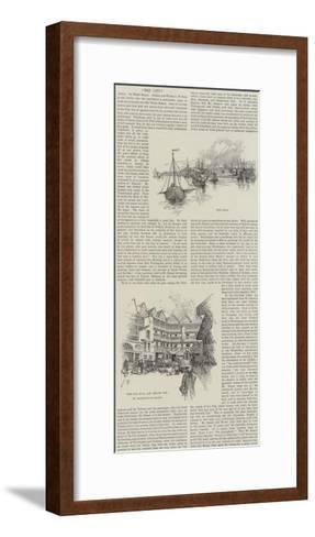 Sketches of the City--Framed Art Print