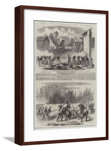 The Revolution in Sicily--Framed Art Print