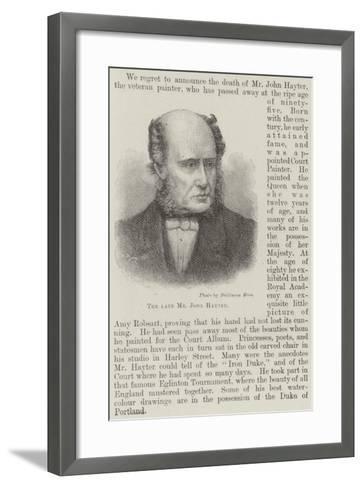 The Late Mr John Hayter--Framed Art Print