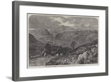 The Valley of the Lledr--Framed Art Print