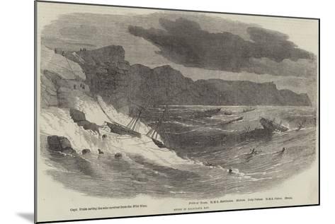 Storm in Balaclava Bay--Mounted Giclee Print