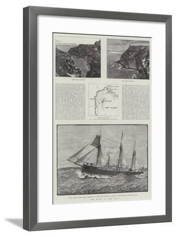 The Wreck of HMS Wasp--Framed Art Print