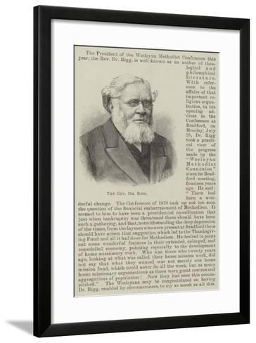 The Reverend Dr Rigg--Framed Art Print
