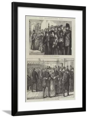 The Thanksgiving Day--Framed Art Print