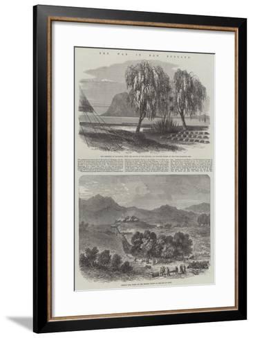 The War in New Zealand--Framed Art Print