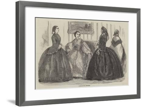 Fashions for December--Framed Art Print