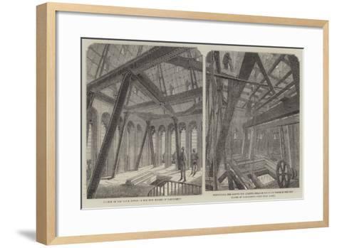 Parliament Bell Tower--Framed Art Print