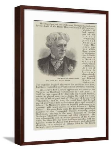 The Late Mr Henry Howe--Framed Art Print