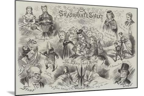 Sketches of Christmas--Mounted Giclee Print