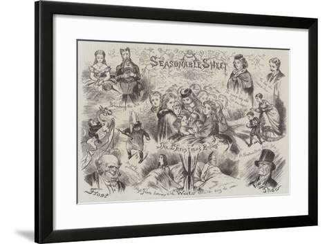 Sketches of Christmas--Framed Art Print