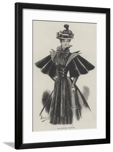 An Autumn Costume--Framed Art Print