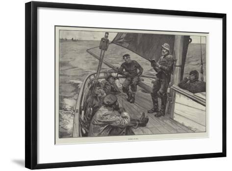 Sunday at Sea--Framed Art Print