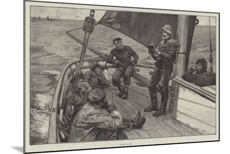 Sunday at Sea--Mounted Giclee Print
